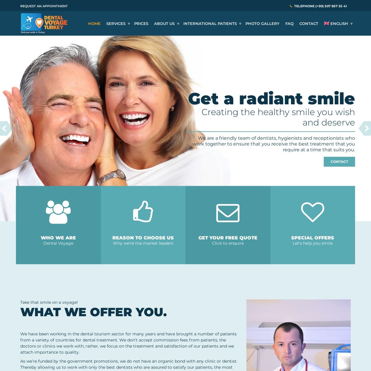dental voyage turkey website